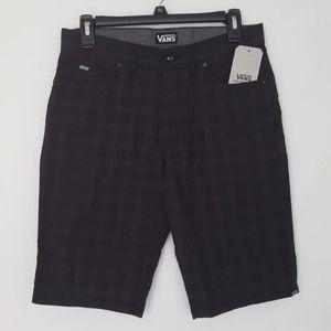 Vans Black Checksy Shorts 28
